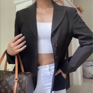 Wear Else? Brown Vintage Blazer Jacket